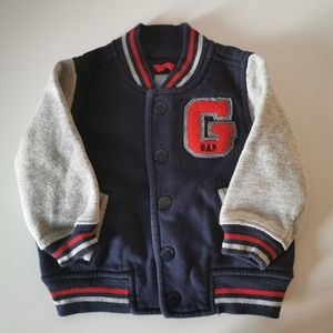 *3/$10* Gap Toddler Boy Button Letterman Sweater